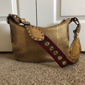 GUCCI Studded Pelham Shoulder Bag